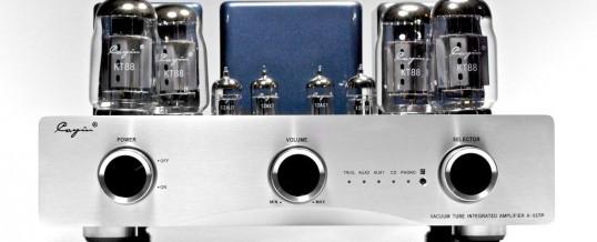 A-55 TP  lampowy wzmacniacz mocy push pull z wbudowanym przedwzmacniaczem gramofonowym MM